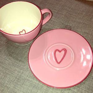 NWT Limited Edition Starbucks pink Mug and Saucer